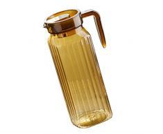 F Fityle Glaskrug Wasserkrug Saftkrug Kühlschrankkrug für kalten/heißen Getränken, Wasser - C