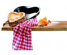 Dr. Oetker Herz-Backform Ø 24 cm, Kuchenform mit Flachboden, herzförmige Backform aus Stahl mit Antihaftbeschichtung (Farbe: grau/schwarz), Menge: 1 Stück