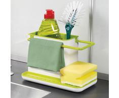 Tinksky Multifunktions-Handschuh Trümmer Storage Rack Dishclout Küche Entwässerung Storage Rack Stand Veranstalter Küchenutensilien (Gelb)