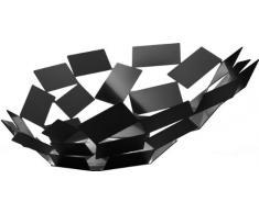 Alessi La Stanza dello Scirocco Obstschale Tafelaufsatz, Edelstahl, schwarz