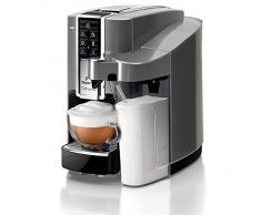 Tchibo Saeco Cafissimo Latte Kapselmaschine (für Kaffee, Espresso,Caffé Crema,Latte Macchiato,Cappuccino oder Tee), grau