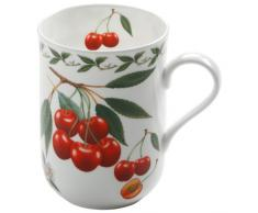 Maxwell & Williams PB8002 Orchard Fruits Becher, Kaffeebecher, Tasse, Motiv: Kirsche, in Geschenkbox, Porzellan