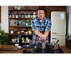Tefal E79144 Jamie Oliver Induction Bratentopf mit Glasdeckel, 32.5 x 21.1 x 15.4 cm, Druchmesser, 3 L, induktionsgeeignet, Edelstahl