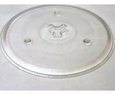 Mikrowelle Drehteller UNI DU = 270 mm / 27 cm / 27,0 cm Mikrowellenteller / Glasteller für Mikrowelle / Ersatzteller / Ersatz-Drehteller / Trapez Vertiefung (GLAS)