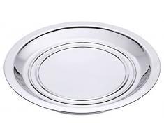 Tellerwärmer aus Edelstahl 18/10, mit Aluminium-Kern, schwere Qualität / Ø max. 25,6 cm, Ø Boden: 19 cm | ERK