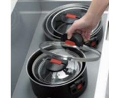 Kochset 4-tlg. Pfanne 28cm + Topfset 3-tlg. mit Deckel Click & Cook - Ballarini
