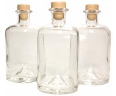 3 Apothekerflaschen 500 ml Glas Flaschen leer Essigflaschen Ölflaschen Schnapsflaschen Likörflaschen zum selbst befüllen VERSAND INNERHALB 24 STD!