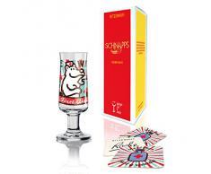 RITZENHOFF Schnapps Schnapsglas von Stephanie Roehe, aus Kristallglas, 40 ml, mit fünf Schnapsdeckeln