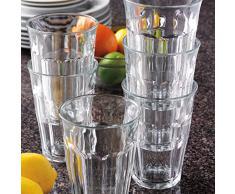 Duralex Picardie Wassergläser, extra stark, 360 ml, 124 mm hoch, 6 Stück