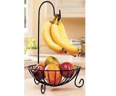 WINOMO Neuheit Küche Metall Obstkorb mit abnehmbaren Banane Bügel Halter Haken