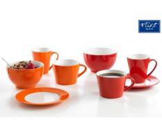 Flirt By R&B Frühstücks-Geschirr Vida rot oder orange Material Frühstücksteller 19 cm Vida rot