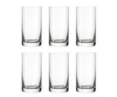 Leonardo 039612 Easy+ Set 6 Becher M, Glas, klar, 6.20 x 6.20 x 12.00 cm, 6 Einheiten