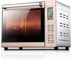 WOHAO Mini-Ofen Rotisserie Brot Backofen Konvektion, aus Edelstahl mit Warmhaltefunktion – Größe Luftzirkulation mit Ofenlampe