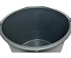 5x Baueimer DEWEPRO® - Mörteleimer - Putzeimer - extra stabil mit Henkel und Skalierung - 12l, 12 Liter