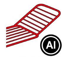 Vileda Gimi Terso Boden-Wäscheständer aus Aluminium, 20 m Trockenlänge