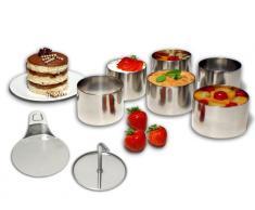 chg Set 245-00 Dessert- Speiseringset Ring, 8-tlg. 6 Dessertringe d = 7,5 cm, Höhe: 5,5 cm 1 Stamper 1 Heber
