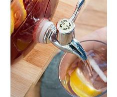 Getränkespender mit Zapfhahn im Einmachglas Look - ca. 3,5 Liter