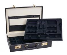 GRÄWE Besteckkoffer leer inkl. Besteckeinlagen für bis zu 100 Teile