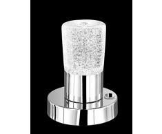 Trio Leuchten LED Touch-Me Tischleuchte in chrom, kristallglas 529690100
