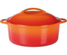 GSW 717243 Shadow Kochtopf mit Deckel 24cm / ca. 4,0 Liter, Gusseisen, orange/creme, 24 cm
