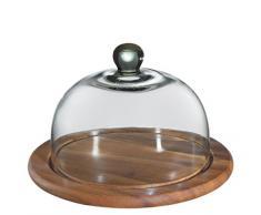 Zassenhaus 55863 Käseglocke mit Glasdeckel, akazie 25 cm