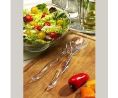 26 Salatbesteck 25 cm glasklar 2-teilig