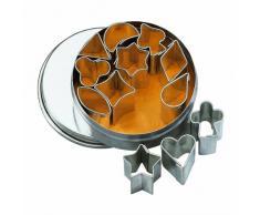 Birkmann 1010636010 Ausstechform, Stahl, grau, 4 x 4 x 5 cm
