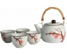 5 teiliges Tee-Service aus der Serie Sakura 桜 /Geschenk - Verpackung
