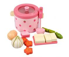 fervory Kinderküche Pretend Play Toys Hot Pot Gemüsetopf Spielzeugküchensets Mit Kochset Kochgeschirr Spielset Töpfe, Gesundes Gemüse Schneiden, So Tun, Als Wäre Es EIN Kleiner Koch