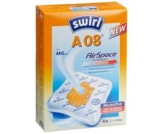 Swirl A 08 MicroPor Plus Staubsaugerbeutel für AEG Staubsauger, Anti-Allergen-Filter, 4 Stück inkl. Filter
