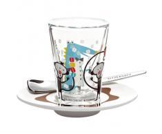 Ritzenhoff 2600010 Espressoglas mit Untertasse Chung (Tiere) F12