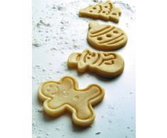 ElecMotive 4 teilige Weihnachts-Plätzchenausstecher Cookie Cutters Plätzchenformen Backformen Fondant Keks Ausstechformen Set mit Auswerfer Farbe zufällig gesendet in Geschenkkarton in Geschenkkarton (H)
