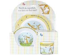 Frühstücks-Set 3-teilig, 1 Teller, 1 Müslischale, 1 Kinderbecher