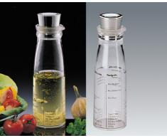 Küchenprofi Dressingshaker mit Deckel aus Edelstahl, Kunststoff, Silber/Transparent