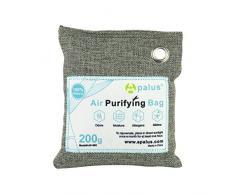 Apalus Luftentfeuchter Schrank, Luftreiniger Beutel aus Bambus Aktivkohle, Der Natürliche Lufterfrischer & Raumerfrischer ist der Perfekte Geruchskiller für Bad, Garderobe, Küche, Küchenschränke
