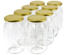 Wamat 900 ml Einweckgläser mit Deckel Gold Einmachgläser Vorratsgläser Einmachglas Weck (Menge: 40 Stück)