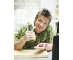 Jamie Oliver - 2in1 Knoblauchschneider JB6300 Knoblauchpresse und -schneider in einem. Aus robustem Zinkguss. Länge: 18 cm.