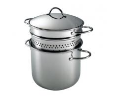Barazzoni 401048022 Nudeltopf, Stahl 18/10, mit Einsatz, 6 Liter Fassungsvermögen