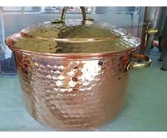 Kupfertopf oder -pfanne. Kochtopf aus Kupfer 12 Liters