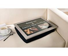Tablett Wake up aus Holz, Knietablett für eigene Bilder