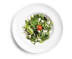 6 x Ø 27 cm Pastateller / Salatteller / Porzellanteller / Nudelteller / Suppenteller   Tiefe 5,5 cm