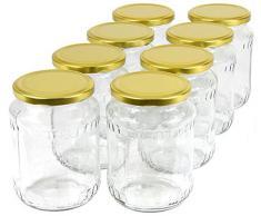 720 ml Einweckgläser mit Deckel gold Einmachgläser Vorratsgläser Einmachglas Weck (Menge: 48 Stück)