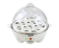 Eurosan EWHT Multifunktionaler Eierkocher für 7 Eier, Einsätze Spiegelei und Dampfgaren, Weiß