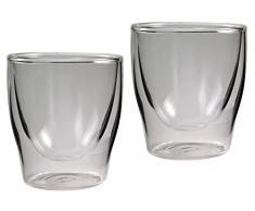 8er-Set doppelwandige Gläser - 2x 80ml Espresso / 2x 200ml Teeglas / 2x 300ml Latte Macchiato / 2x Longdrink - je im 2er-Set verpackt, Glas-Medley von Feelino