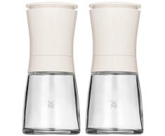 WMF Gewürzmühlen-Set 2-teilig Salzmühle Pfeffermühle weiß Trend unbefüllt mit Mahlwerk aus Keramik