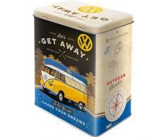 Nostalgic-Art Vorratsdose, Stahl, Volkswagen Bulli-Lets Get Away, 10 x 14 x 20 cm