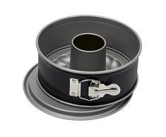Kaiser Inspiration Mini-Springform, mit Flach- und Rohrboden, Ø 20 cm, 2 Böden, für 1/2 Rezeptportion, runde Backform, auslaufsicher, antihaftbeschichtet, schwarz