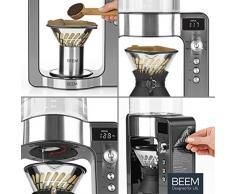 BEEM POUR OVER Filterkaffeemaschine mit Waage - Glas | BASIC SELECTION | Edelstahl | 0,75 l Glaskaraffe | Direktbrüh-Prinzip | Rotierender Brühkopf