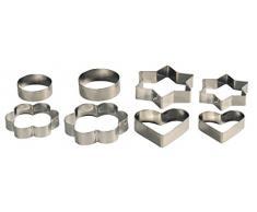 Kesper 37027 Ausstechförmchen, 8-teilig, Metall