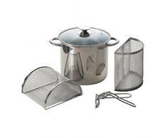 Brunch Time Excèlsa Pasta Mix Nudel-/Pastatopf aus Edelstahl mit Dampfeinsatz & 2 Deckeln